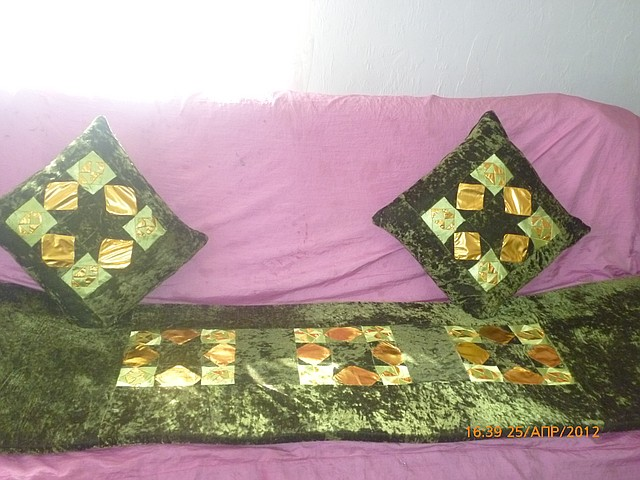 Корпе с двумя подушками.