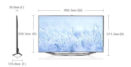 Телевизор lcd 3d slim led 800 hz samsung ue 40es8007uxkz