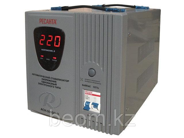 Стабилизатор напряжения электронный (релейный) 5 кВт - Ресанта ACH-5000/1-Ц.