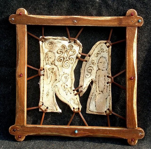 картина из кожи дерево Каталог одежды.
