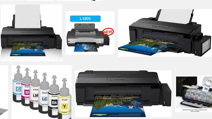Принтер А3+ Epson L1800 с оригинальной СНПЧ