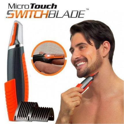 Триммер для лица и тела Micro Touch Switchblade 2 в 1 с комплектом насадок, фото 2