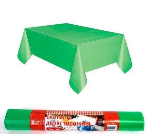 Комплект скатертей двухсторонних «Служба Быта» [110х150, 5 штук] (Зеленый), фото 2