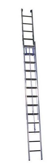 Алюминиевая лестница с канатной тягой (2х22), (3222)