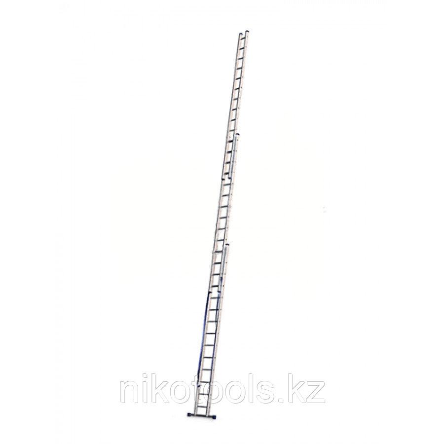 Алюминиевая лестница с канатной тягой (3х25), (3325)