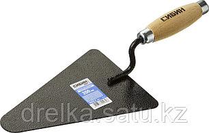 Кельма бетонщика СИБИН с деревянной усиленной ручкой, КБ, фото 2