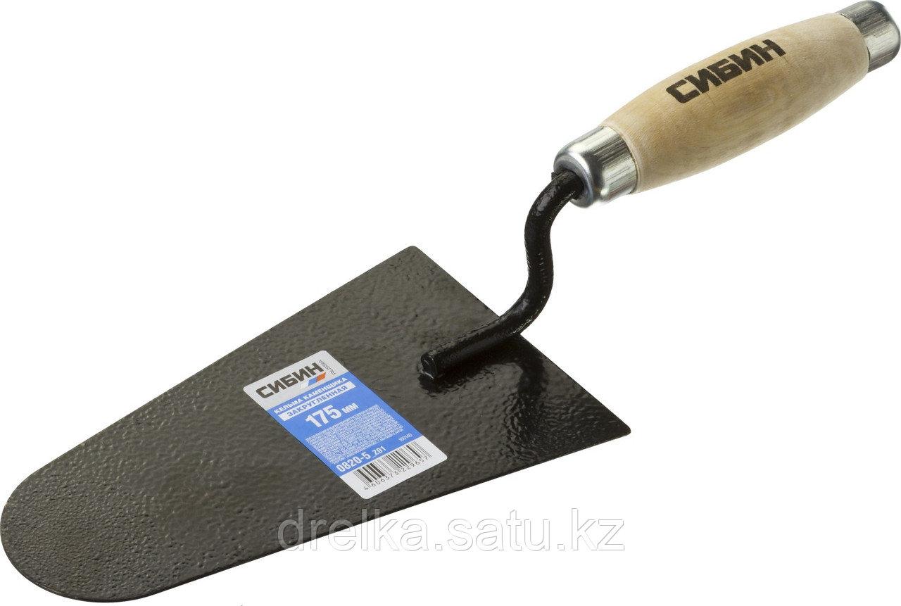 Кельма каменщика СИБИН с деревянной усиленной ручкой, КК
