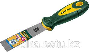 Шпательная лопатка KRAFTOOL с 2-компонент ручк, профилиров нержав полотно, 32мм, фото 2