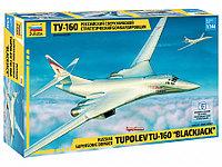 Сборная модель Российский сверхзвуковой стратегический бомбардировщик Ту-160
