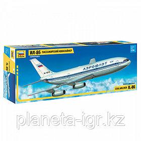 Пассажирский авиалайнер Ил-86, сборная модель, 1\144