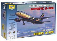 Гражданский авиалайнер Аэробус А-320, сборная модель, 1:144