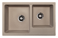 Кухонная мойка ORIVEL - QUADRO PLUS 2D бежевый , фото 1