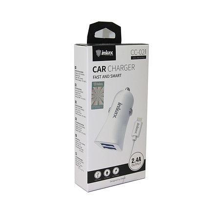 Автомобильное зарядное устройство INKAX CC-02 iPhone Lightning USB 2.4A, фото 2