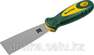 Шпательная лопатка KRAFTOOL с 2-компонент ручк, профилиров нержав полотно, 40мм, фото 2