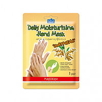 Маска-перчатки для рук Oatmeal Daily Moisturizing Hand Mask (Purederm)