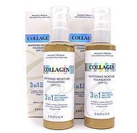 Тональный крем Enough 3 in1 Collagen Whitening Moisture Foundation SPF15 100ml.  (#21 #13))