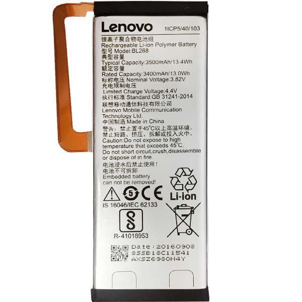 Заводской аккумулятор для Lenovo Zuk Z2 (BL-268, 3500mAh)