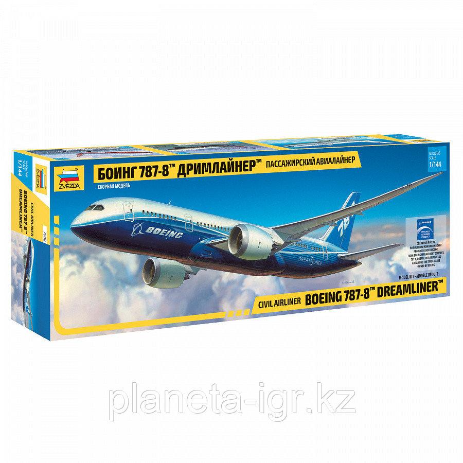 Пассажирский авиалайнер Боинг 787-8 Дримлайнер, сборная модель, 1:144