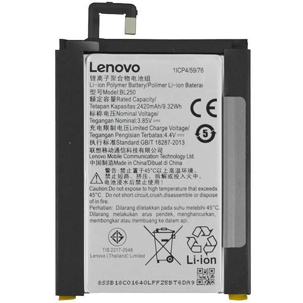 Заводской аккумулятор для Lenovo Vibe S1 (BL-250, 2420 mAh)