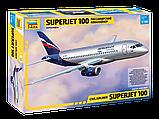 Региональный пассажирский авиалайнер Superjet 100, сборная модель, 1:144, фото 2