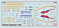 Региональный пассажирский авиалайнер Superjet 100, сборная модель, 1:144, фото 1