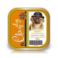 CLAN консервы для собак Кусочки Утка в морковном соусе 150г