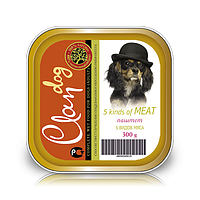 CLAN консервы для собак 300г Паштет 5 видов мяса