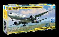 Сборная модель - Пассажирский авиалайнер Боинг 777-300 ER. 1:144