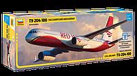 Пассажирский авиалайнер Ту-204-100, сборная модель, 1\144, фото 1