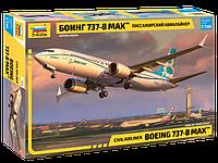 """Пассажирский авиалайнер """"Боинг 737-8 MAX"""", сборная модель, 1:144, фото 1"""
