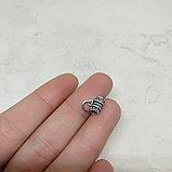 Бэйл из серебра, 8х4мм, фото 2