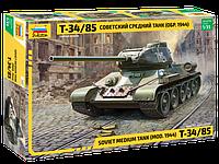 Советский средний танк Т-34/85, сборная модель, 1:35, фото 1