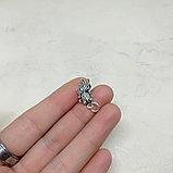 Навеска Рыбка из серебра, 15х9мм, фото 2