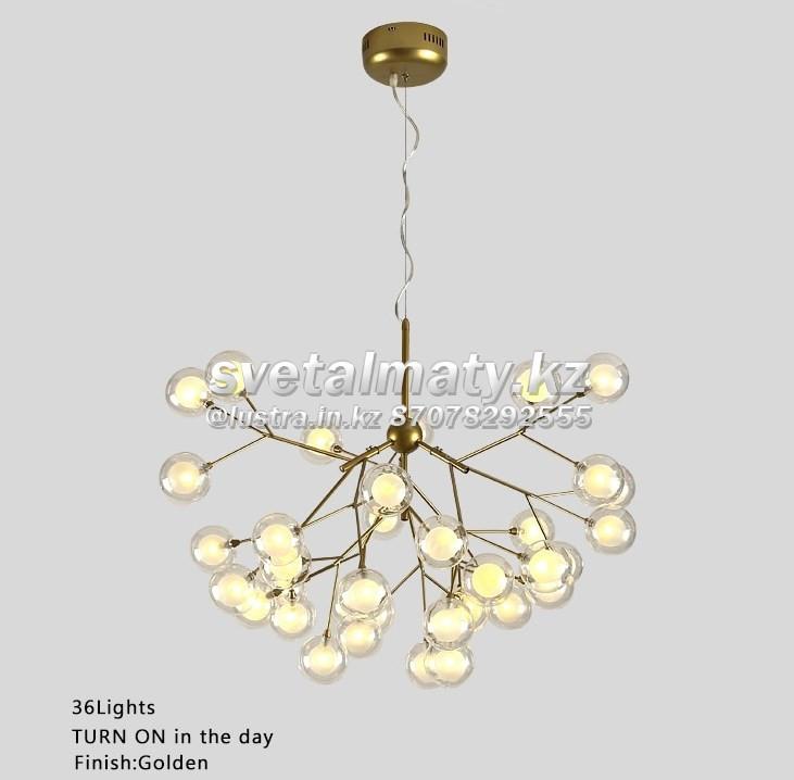 Люстра в стиле Modern на 36 ламп золото
