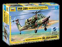 Сборная модель Российский ударный вертолет МИ-28A, 1:72, фото 1