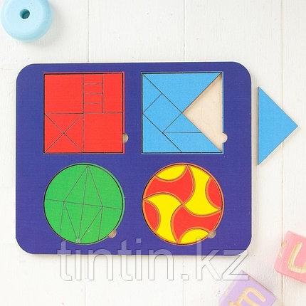 Рамка-вкладыш - Головоломки 4 в 1 (24х20х1см), фото 2