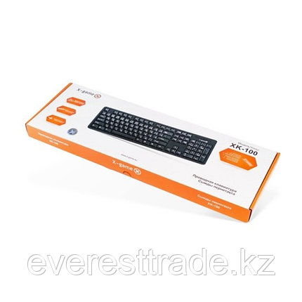 Клавиатура проводная X-Game XK-100PB Black USB, фото 2