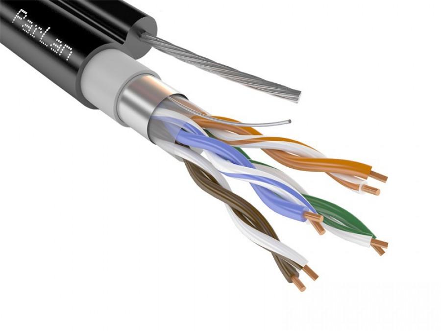 FTP-5e 4х2х0.52 PEtr внешний с тросом (ParLan)