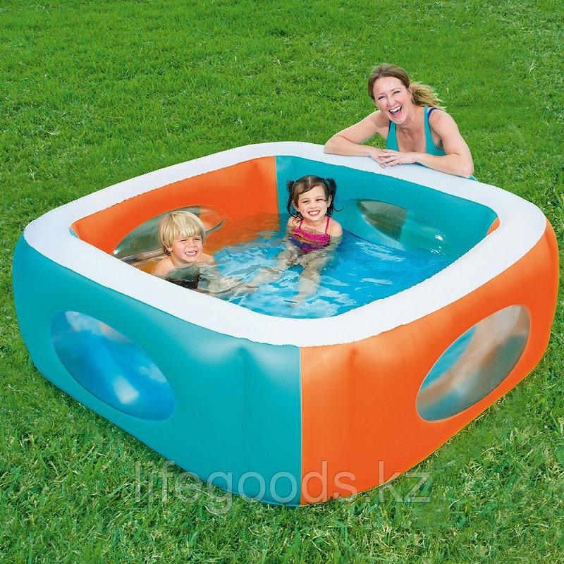 """Детский надувной бассейн """"Окошки"""" 168х168х56см, Bestway 51132"""