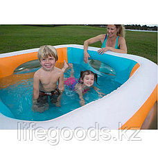 """Детский надувной бассейн """"Окошки"""" 168х168х56см, Bestway 51132, фото 2"""