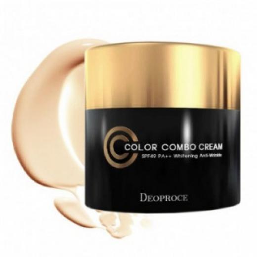 Крем Deoproce Color Combo Cream SPF50+ PA+++ скрывает любые несовершенства кожи тон# 23