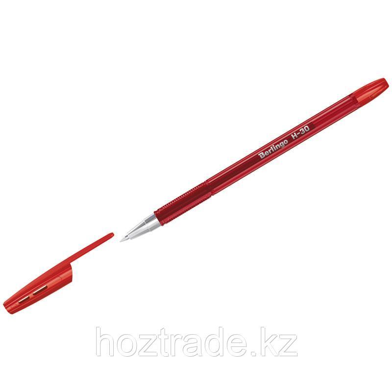 """Ручка шариковая Berlingo """"Н-30"""" , красная, 0,7 мм"""