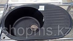 GranFest-QUARZ (ECO-18) Мойка чаш+кр. 740*480 арт. GF-Z-18 (черный)