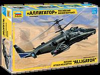 """Российский боевой вертолет """"Аллигатор"""", Ка-52, сборная модель, 1:72, фото 1"""