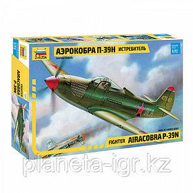 """Истребитель П-39Н """"Аэрокобра"""", сборная модель, 1:72"""