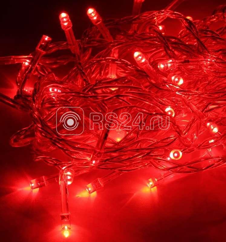 Гирлянда светодиодная красная 50LED шнур 6.5м