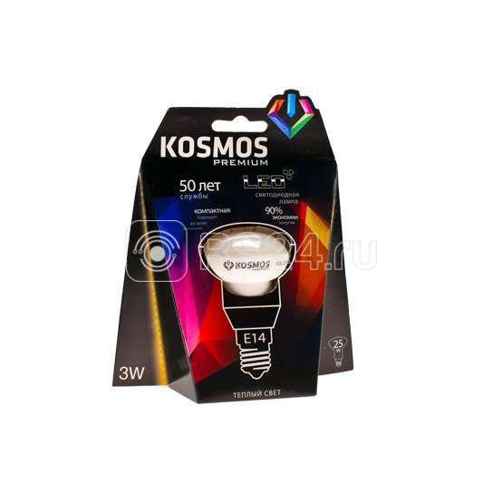 Лампа светодиодная LED KOSMOS premium 3Вт REFLECTOR 39мм E14 230В 3000К
