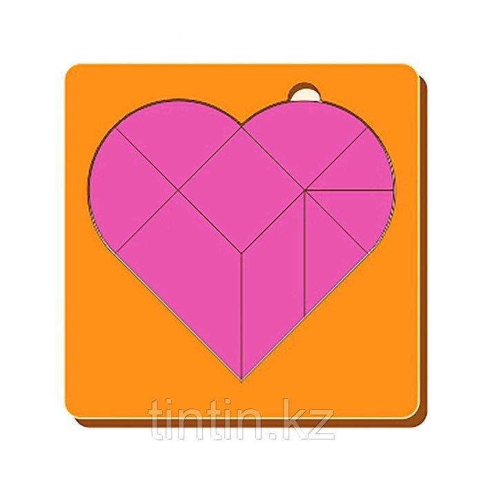 Головоломка - Сердце (14х14х0,5см)