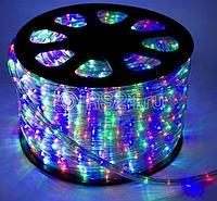Шнур светодиодный Дюралайт постоянного свечения 2W 220В 1.8Вт/м d13мм мультиколор