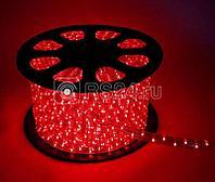 Шнур светодиодный Дюралайт постоянного свечения 2W 220В 1.8Вт/м d13мм красный